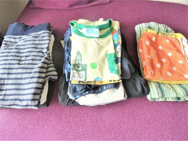「行き先ごと」に置いた洗濯物