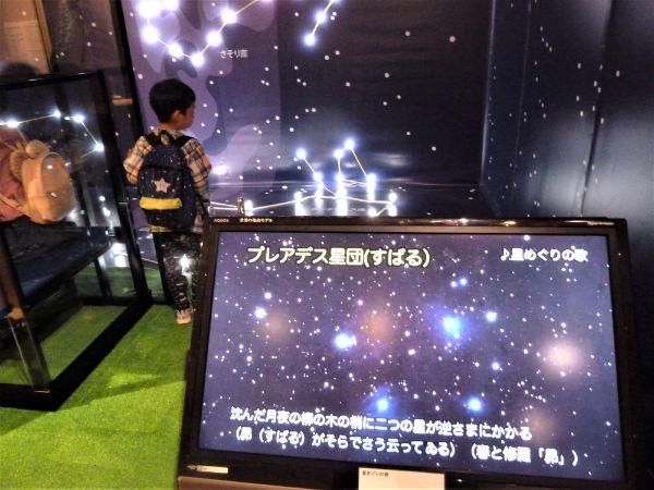 「銀河鉄道の夜」のモチーフになった星空展示